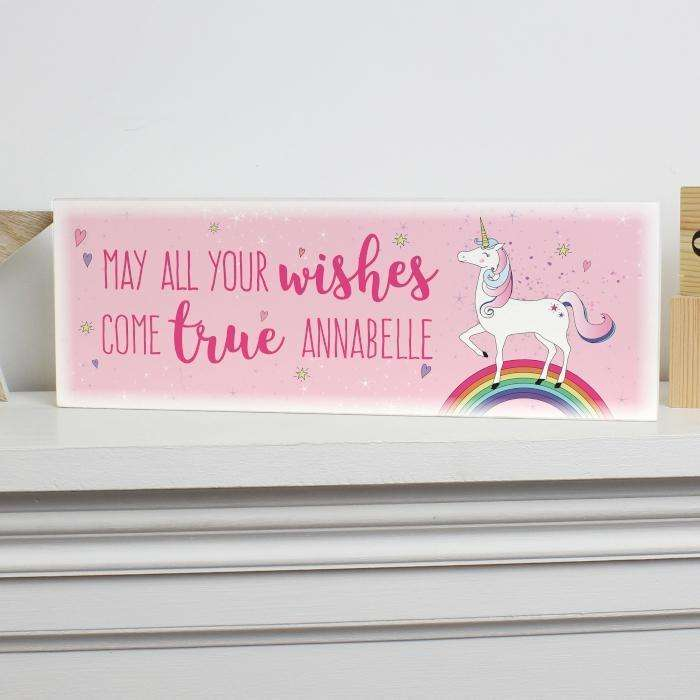 Personalised Wooden Block Sign
