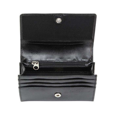 Personalised Black Leather Purse