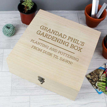 Personalised Large Wooden Keepsake Box