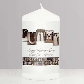 Personalised Affection Art Candle