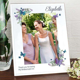 Personalised 5 x 7 Mirrored Glass Photo Frame