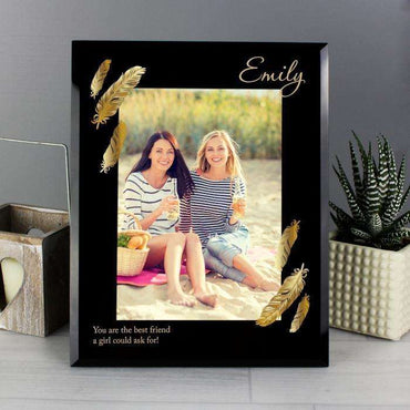 Personalised 5 x 7 Black Glass Photo Frame