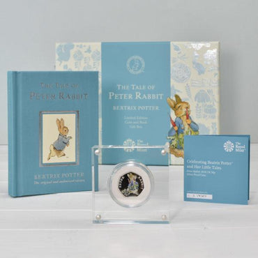 Peter Rabbit Royal Mint Silver Proof Coin & Book Set