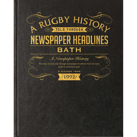 Bath Rugby Newspaper Book