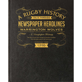 Warrington Wolves Rugby Newspaper Book