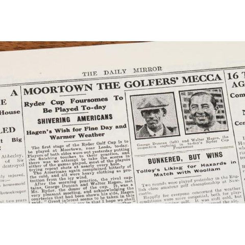 A4 Ryder Cup Newspaper Book