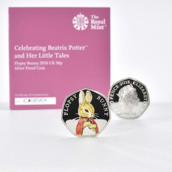 Flopsy Bunny Royal Mint Silver Proof Coin & Book Set