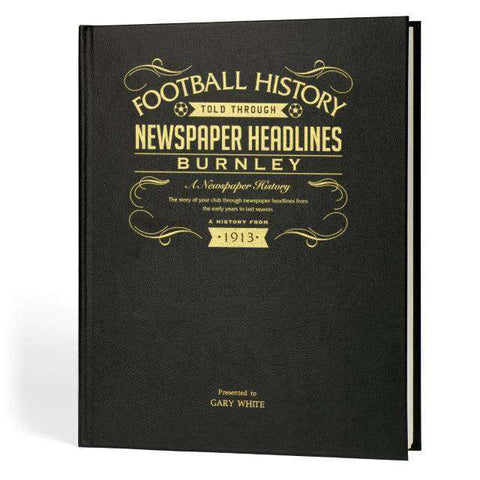 A3 Leather Burnley Football Newspaper Book