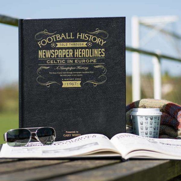 A3 Leather Celtic in Europe Football Newspaper Book