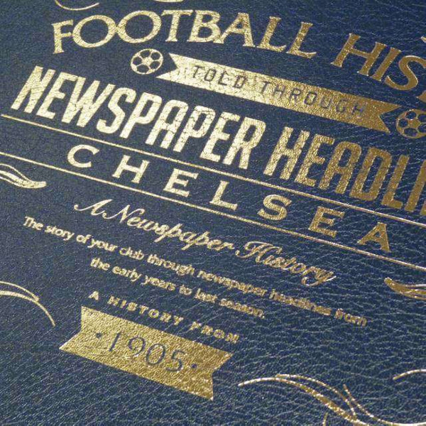 A3 Leather Chelsea Football Newspaper Book