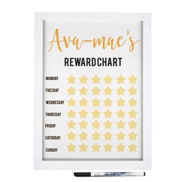 A4 Framed Rewards Chart & Dry Wipe Pen