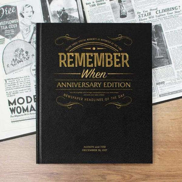 Anniversary Newspaper Book