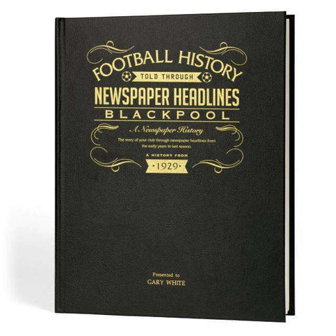 Blackpool Football Newspaper Book