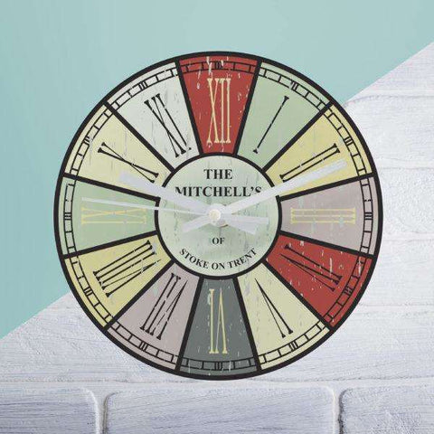 Distressed Cream Or Coloured Round Clock