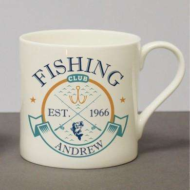 Fishing Club Chunky Bone China Mug
