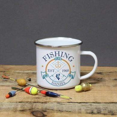 Fishing Club Enamel Mug