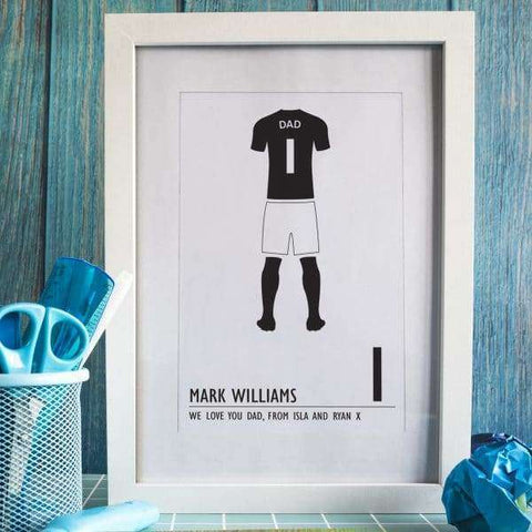 Football Kit Print A4 Framed Print