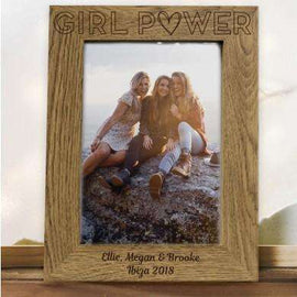Girl Power Wooden Photo Frame