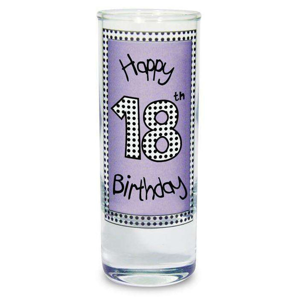 Lilac Happy Birthday Shot Glass
