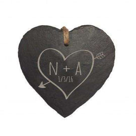 Sketch Heart Slate Hanging Heart
