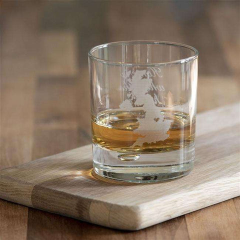 Home Is Where The Heart Is Whisky Glass