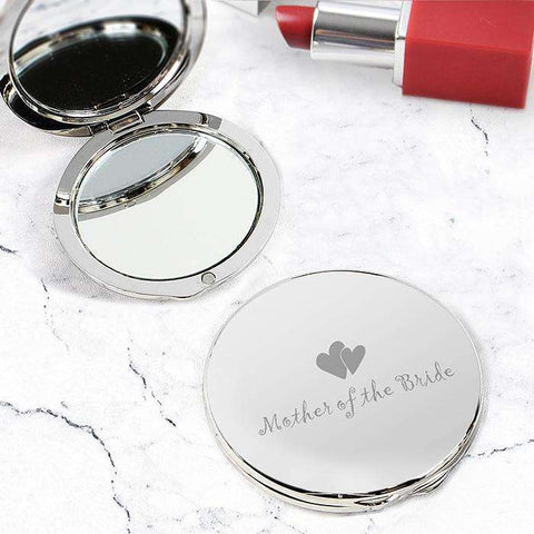 Mother of Round Compact Mirror