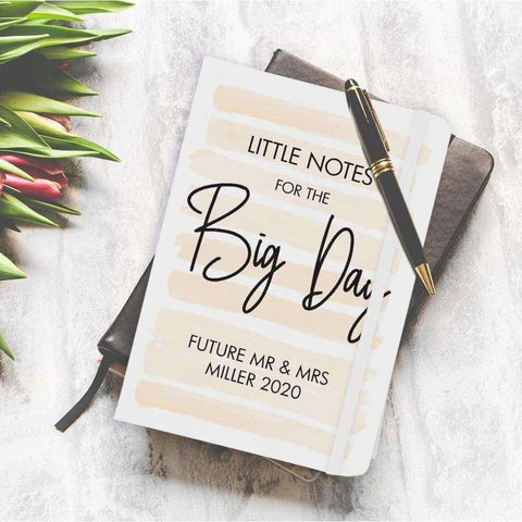 Little Notes For The Big Day A5 White Notebook