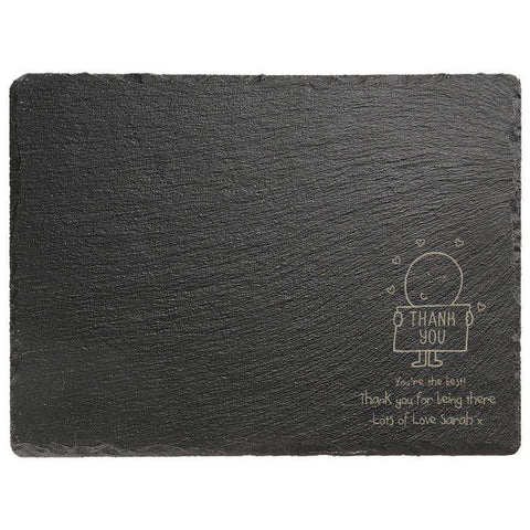 Chilli & Bubbles Rectangle Slate Cheese Board