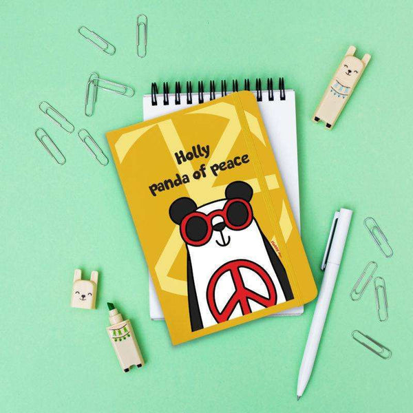 Panda Of Peace Yellow Notebook