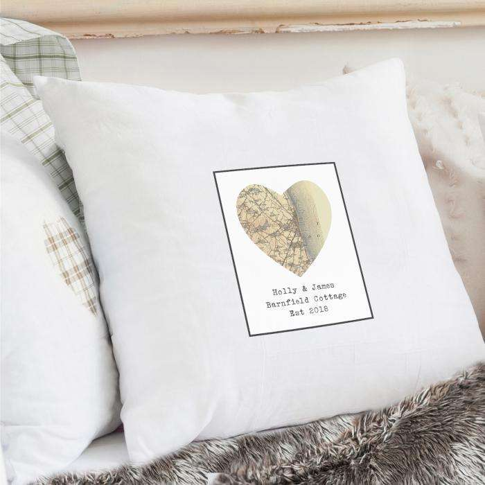 Personalised 1896 1904 Revised Map Heart