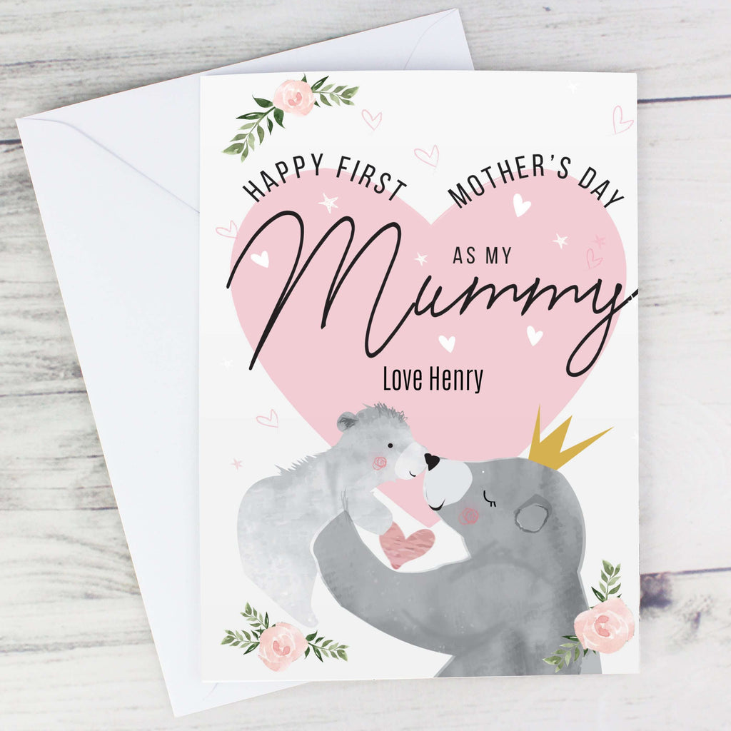 Personalised 1st Mother's Day Mama Bear Card