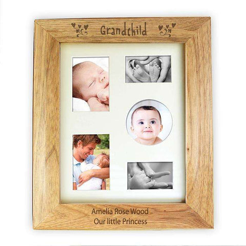Personalised 8 x 10 Grandchild Wooden Photo Frame