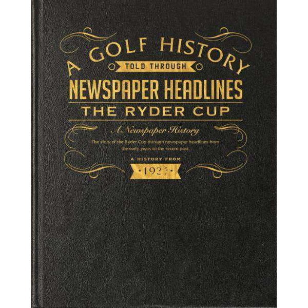 Personalised A3 Ryder Cup Golf Book