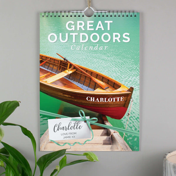 Personalised A4 Great Outdoors Calendar
