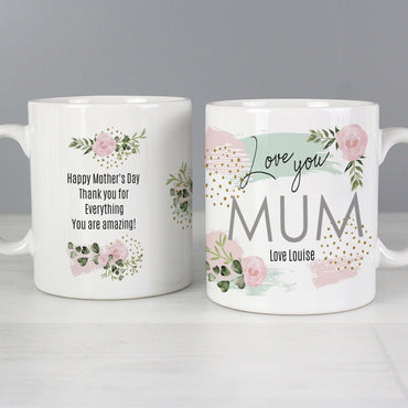 Personalised Abstract Rose Mug