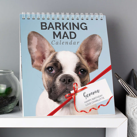 Personalised Barking Mad Calendar