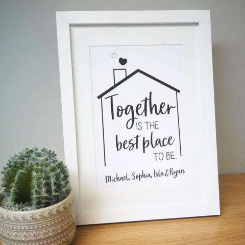Personalised Best Place To Be A4 Framed Print