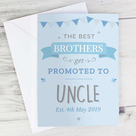 Personalised Blue Promoted to Card