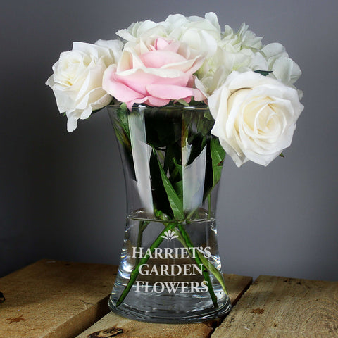 Personalised Bold Font Glass Vase