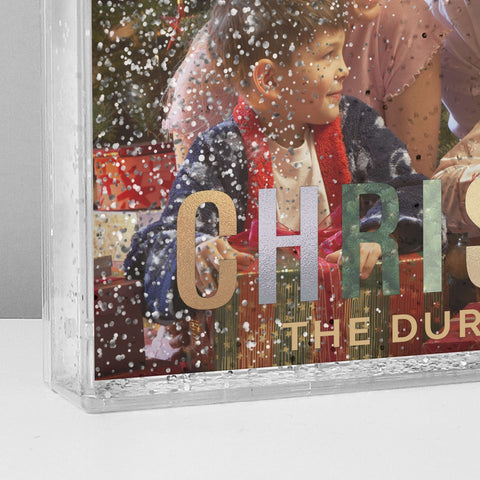 Personalised Christmas 6x4 Glitter Shaker Photo Frame