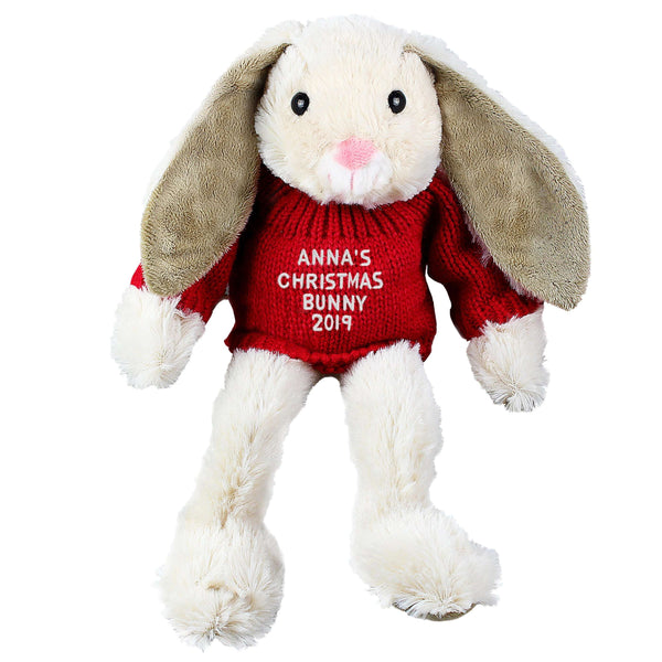 Personalised Christmas Bunny Soft Toy