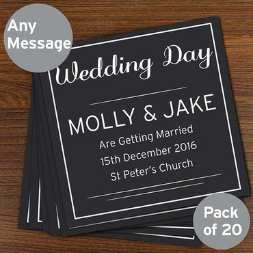 Personalised Classic Pack of 20 Cards/Invites