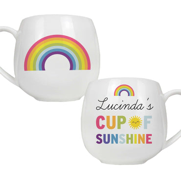 Personalised Cute Rainbow Shape Mug