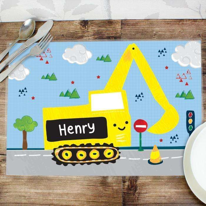 Personalised Digger Placemat