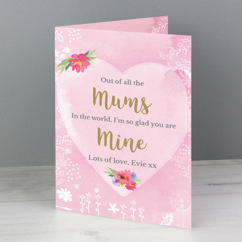 Personalised Floral Watercolour Card