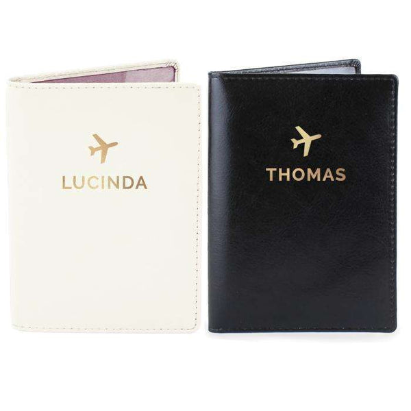 Personalised Gold Name Passport Holders Set