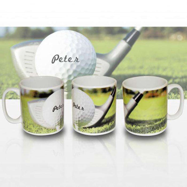 Personalised Golf Ball Mug