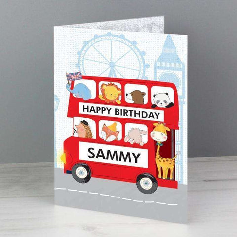 Personalised London Animal Bus Card