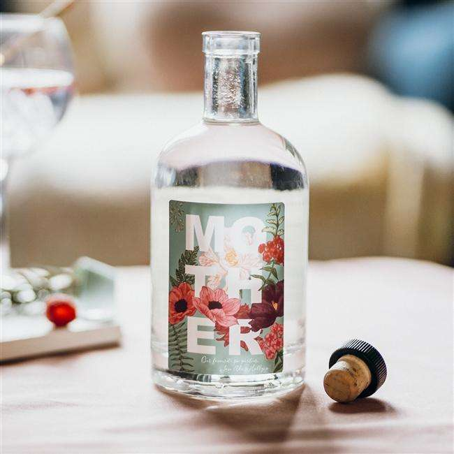 Personalised Mother Floral Gin
