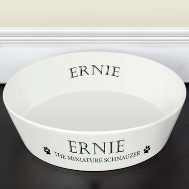 Personalised Paws 20cm Large Bone China Pet Bowl